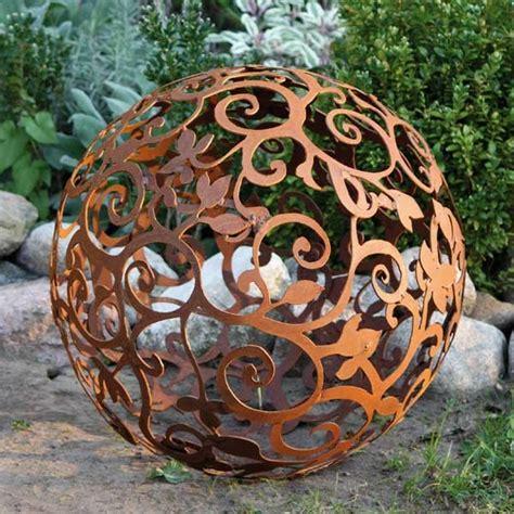 Garten Deko Kugel Rost by Sodo Dekoras Iš Rūdžių Vėsūs Pavyzdžiai