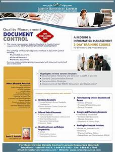 course outline quality management qms iso 90012008 With document control training online