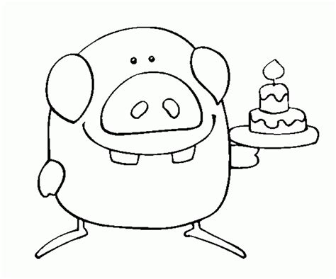 funny happy birthday coloring pages  coloring