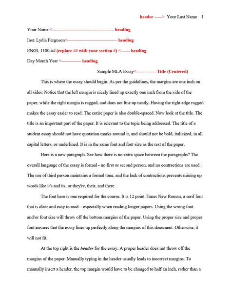 38 free mla format templates mla essay format ᐅ