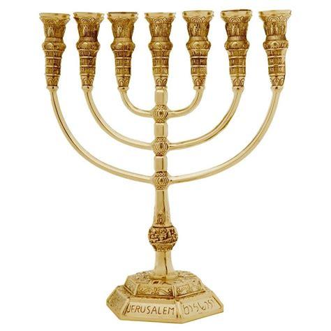 Golden Seven Branch Temple Menorah, Judaica