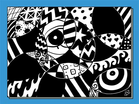 Abstract Drawing Using Shapes by How To Create A Random Abstract Drawing 11 Steps With