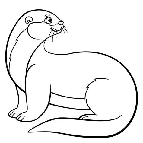 Sea Otter Coloring Page Sevimlimutfak