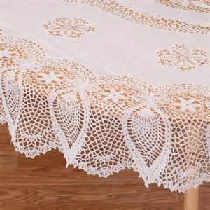 Patio Tablecloth With Umbrella Hole by Crocheted Vinyl Lace Tablecloth 70 Quot Round Ebay