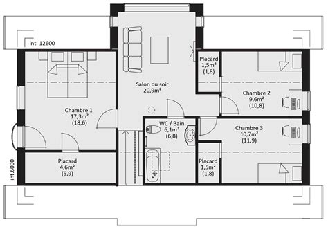 plan maison bois plain pied 4 chambres plan maison ossature bois plain pied maison moderne