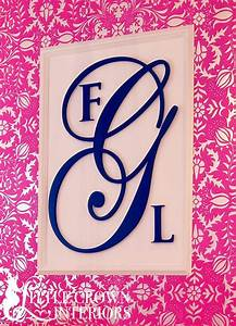 our nursery wall monograms consist of three laser cut With cursive wall letters for nursery