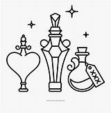 Potion Coloring Clipartkey sketch template