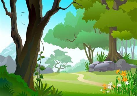 Free Vector Forest Landscape Illustration 05