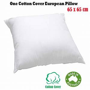 made in australia european pillow insert cotton cover With european pillow protector