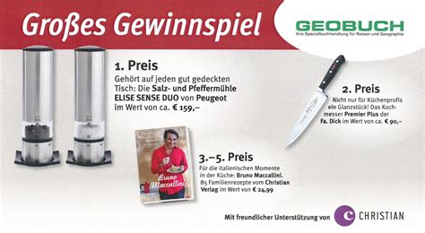 Gewinnspiel Kuche by Die Gewinner Vom Christian Gewinnspiel Geobuch