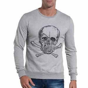 Sweat De Marque Homme : sixth june sweat homme gris clair sans capuche tendance ~ Melissatoandfro.com Idées de Décoration