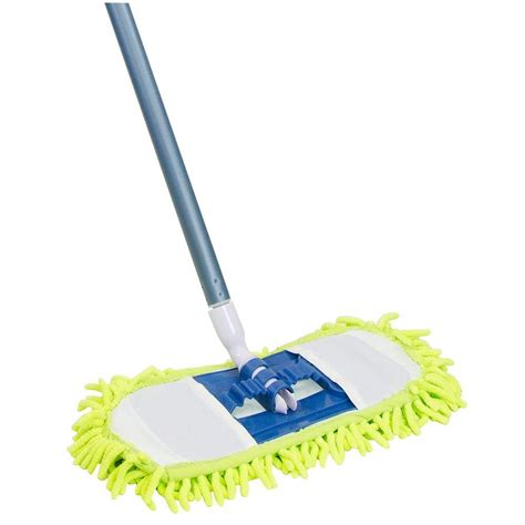 floor cleaning mops for home quickie 14 in soft n swivel microfiber chenille dust