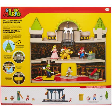 Nintendo Super Mario Deluxe 19 pc Bowser's Castle Playset ...