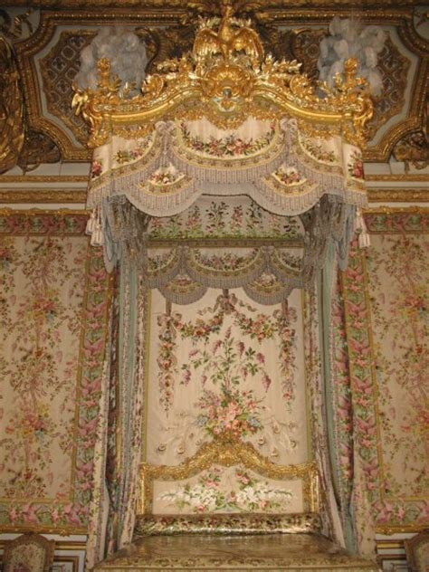 marie antoinettes beautiful bed  versailles photo