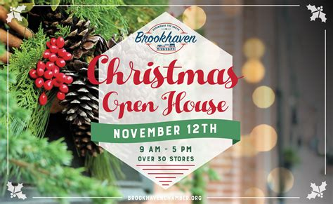 christmas open house visit brookhaven mississippi