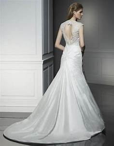 simple silk wedding gown with chapel train ipunya With simple silk wedding dresses