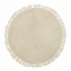 tapis rond a franges en laine boho quotbloomingvillequot le With tapis rond 100 cm