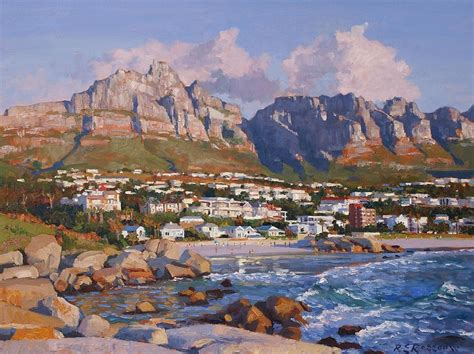 Glen Beach, Cape Town Painting By Roelof Rossouw