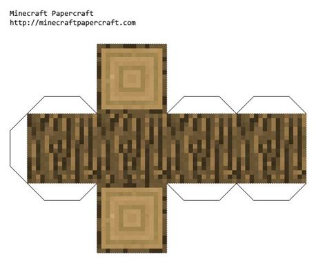 papercraft wood minecraft crafts minecraft printables