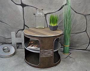 Beistelltisch Weiß Vintage : livitat couchtisch beistelltisch wei metall lfass ~ A.2002-acura-tl-radio.info Haus und Dekorationen