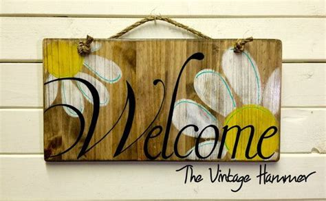 sign wood sign  daisies hand painted
