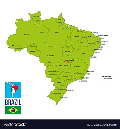 political map  brazil royalty  vector image