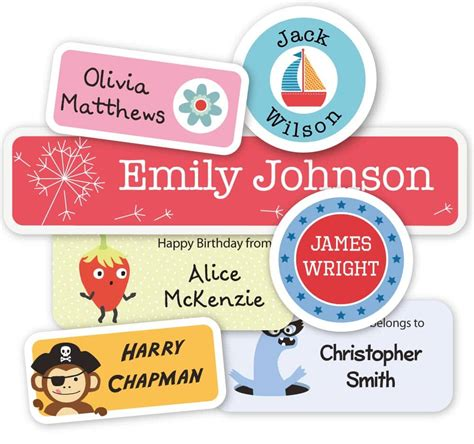 labels clothing labels iron  labels  kids