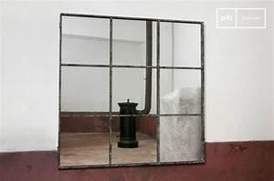 Petit Miroir Carré : miroir industriel le style verri re d 39 atelier ~ Teatrodelosmanantiales.com Idées de Décoration