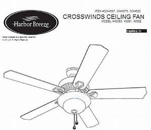 Harbor Breeze Ceiling Fans Website  Replacement Parts