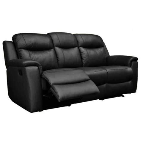 vente canapé cuir canapé 3 places relax evasion en cuir noir achat