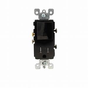 Leviton Decora 15 Amp Commercial Grade Combination Single