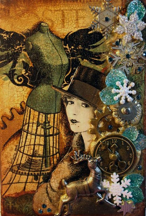 steampunk christmas tags festival collections