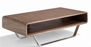 Table Basse Bois Acier : table basse bois noyer et acier inoxydable hena ~ Teatrodelosmanantiales.com Idées de Décoration