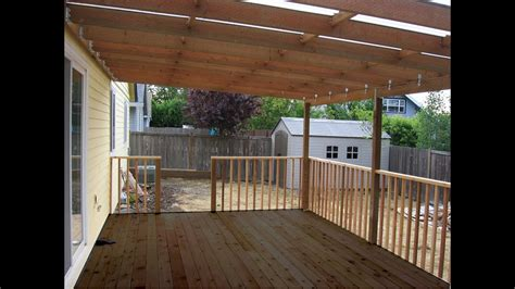 building  patio deck cover youtube