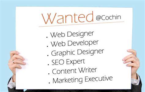 web designer jobs  cochin kerala marketing executive