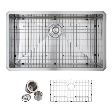 glacier bay all in one kitchen sink glacier bay all in one undermount stainless steel 32 in 9224