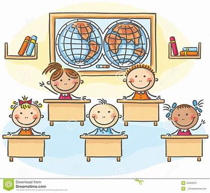 Aula Klassenzimmer Classroom Cartoon Classe Drawing Kinder