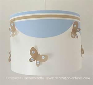 Suspension Chambre Bébé : suspension chambre b b papillon bleu taupe fabrique ~ Voncanada.com Idées de Décoration