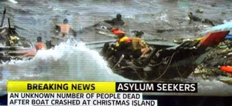 Refugee Boat Crash Christmas Island by Boat Carrying Asylum Seekers From Iran Iraq Crashes On