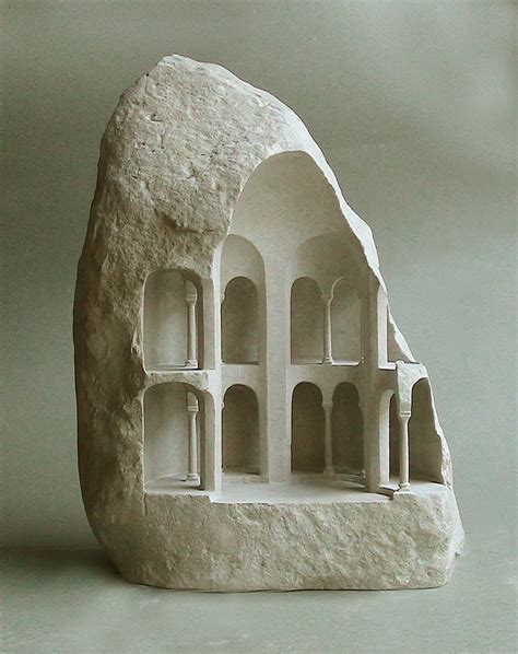 New Miniature Architectural Structures Carved Into Raw Stone By Matthew Simmonds Colossal