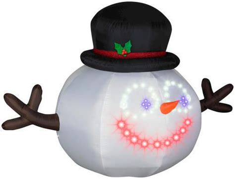 rare huge synchronized snowman holiday airblown inflatable