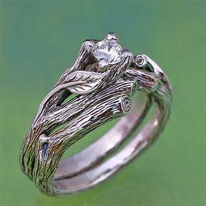 leaf and twig design ring sets the hermetic library blog With leaf design wedding rings