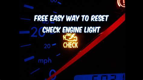 reset check engine light  easy  revised