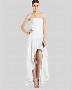 bcbgmaxazria bcbg max azria gown evangelina highlow ruffle With bcbg max azria robe