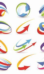 Vector Logo of abstract arrow design elements 04 - Vector ...