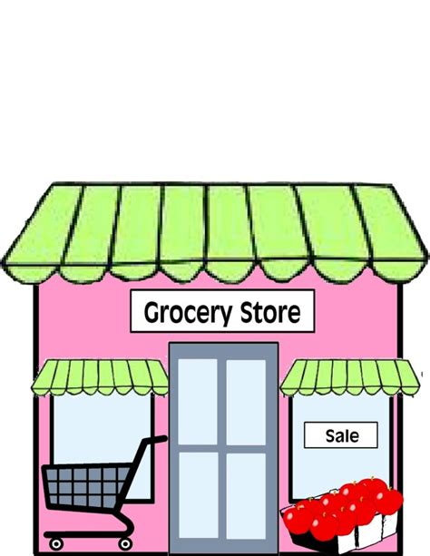 Grocery Store Clipart Grocery Store Clipart Black And White Clipart Panda