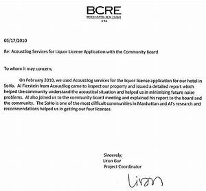 recommendation letter for co op board acoustilog incorporated testimonial letters