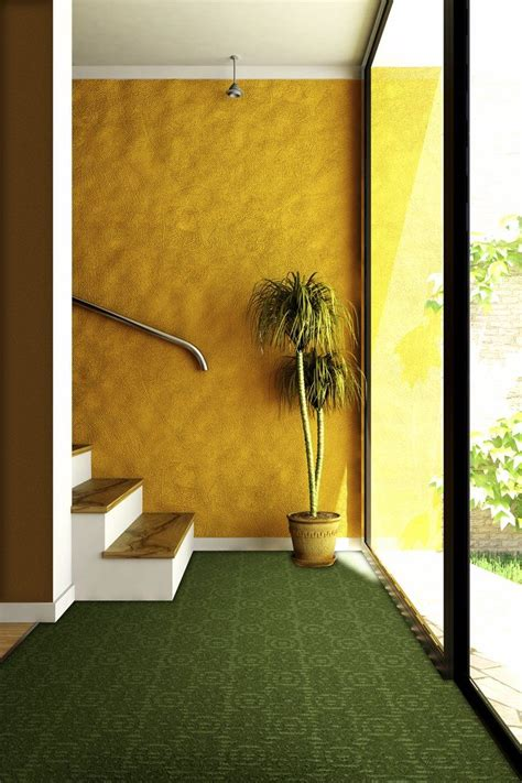 idea   basement yellow walls  green
