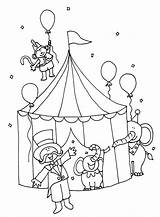 Circus Coloring Pages Printable Tent Carnival Animals Getcoloringpages sketch template