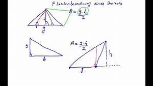 Höhe Eines Rechtwinkligen Dreiecks Berechnen : mathe fl che eines dreiecks berechnen youtube ~ Themetempest.com Abrechnung